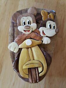 Disney Wooden Keepsake Puzzle Box Mickey Minnie Mouse