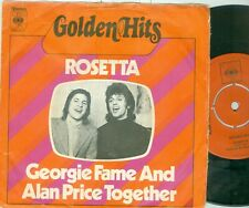 "GEORGIE FAME & ALAN PRICE - ROSETTA ( DUTCH CBS 8201) 7""PS 1972"
