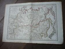 CARTE SIBERIE PARTIE DE L'EMPIRE CHINOIS ILES DU JAPON 1811 DELAMARCHE