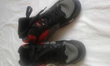 MENS ODESSA BLACK GREY AND RED TRAINERS SIZE 6