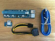 PCI-E Express 1x-16x Version 008 USB Extender Express Riser Card,Adapter, Cable