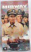 """""""MIDWAY"""" (VHS, 1995) Charlton Heston Henry Fonda James Coburn Military Navy"""
