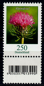 Bund 3199 S Zd 1 **, Rollenmarke mit Nr., 250 C. Freimarke Blumen