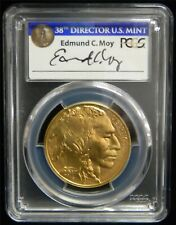 2017 $50 Gold American Buffalo PCGS MS70 First Strike * ED MOY * Auto Tag #SP53