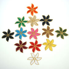 3PCS Small Flower DIY For Clothing Patches Embroidered Applique Sewing Fabric