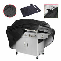 "57"" BBQ Gas Grill Cover Barbecue Waterproof Outdoor Heavy Duty Protection Black"