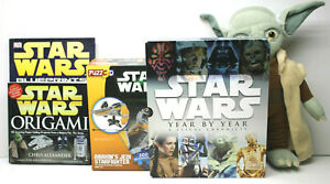 5pc Star Wars Lot Puzz3D Star Wars Anakin's Starfighter+Origami+Yoda Backpack+++