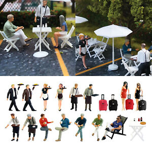 Model Building Scene 1:64 Scale Painted Figures O Scale Coffee Shop People for