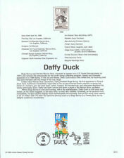 DAFFY duck LEANING ON MAILBOX WARNER BROTHERS 1999 #3137A  USPS FD Souvenir Page