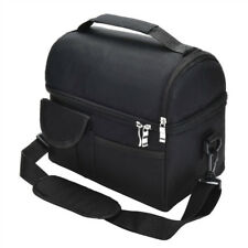 Insulated Lunch Bag Coolbag Work Picnic Adult Kids Food Storage Lunchbox BlackSW