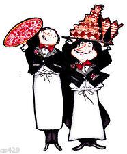 "5"" FAT ITALIAN CHEF BAKER COOK WAITER SERVER WINE PIZZA FABRIC APPLIQUE IRON ON"