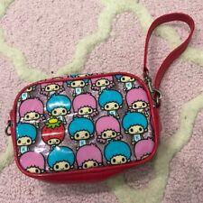 Sanrio Little Twin Stars Patty Jimmy Strawberry King Glitter Zipper Bag Clutch