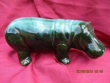 More details for vintage canadian blue mountain pottery hippopotamus  figurine