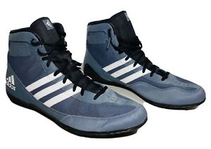 Adidas Mat Wizard David Taylor M2 Edition Wrestling Shoes Grey Men's Size 12