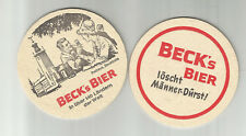 Lot Of 5 Beck's Beer Coasters- Rathaus-Stockholm, Sweden