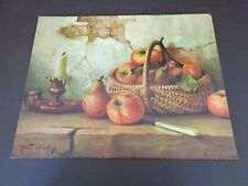 """Vintage Robert Chailloux Litho """"Still Life With Apples"""""""