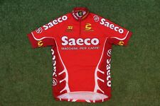 Rare Authentic Cannondale Saeco Cycling Team Road Bike SS Top Jersey ~ Small