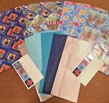 Jewish Holiday Gift Bags Hanukkah Menorah Wrapping Paper Tags 8 Bag Count