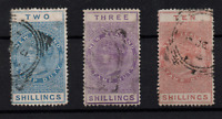 New Zealand QV Stamp Duty Revenue collection 2/- 3/- & 10/- WS22697