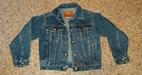 Vintage Brittania Unisex Boy Girl Youth Medium (5-6) Denim Jean Jacket USA Made