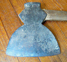 ANTIQUE BROAD AXE MARKED OAK ON BLADE