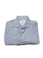 M.J. Bale Mens Size 44 Slim Fit Checked Button Up Collared Shirt