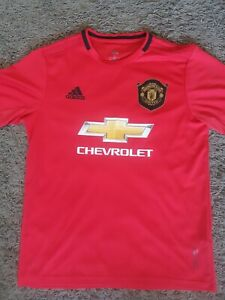 MANCHESTER UNITED HOME Football Shirt 2019/2020 - Adidas Men's Large