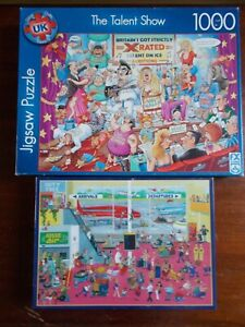 2 x 1000 PIECE COMIC JIGSAW PUZZLES. 1 NEW AND SEALED