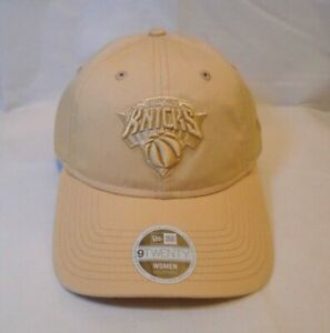 New York Knicks Women's New Era 9TWENTY Tan Core Cap Hat