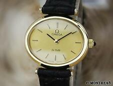 Omega DeVille Swiss Made Gold Plated Ladies Manual 1980s Luxurious Watch JU171