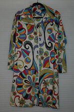 Vintage Signed Eduardo for Emilio Pucci Mod Psychedelic Trapezoid Dress