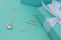 """AUTHENTIC Tiffany & Co. Carved Heart Necklace 16"""" (#507A)"""