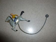Vintage Painted Plastic Single Racer Horse Part of Mobile or Carousel