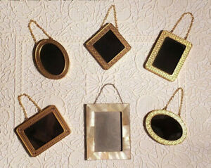 6 Hallmark Family Tree Ornaments Gold Metal Photo Holders Starter Set + Bonus