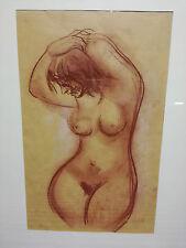 Luciano Sopelsa NUDO quadro pastello 70 x 50 cm cornice pittore veneziano