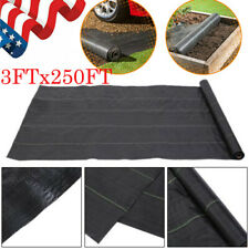 3*250ft 3.2Oz/sqm Woven Ground Cover Fabric Landscape Weed Control Membrane