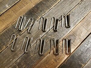 New Set 10 Pottery Barn Drapery Hooks 1.5 Inch Silver Color Metal Slide Pin On