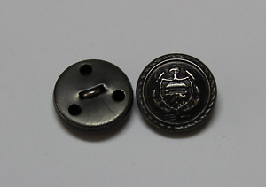 Lote de 2 BOTONES Escudo  Vintage Merceria Metal Mide 20mm Años 80.