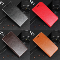 Luxury Genuine Leather Wallet Phone Case Flip Cover For Nokia Lumia 640