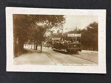 Vintage RPPC : Lancs: #T2: Round Trip Circular Tour Blackpool Whitegate Dr. Tram
