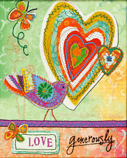 Embroidery Kit ~ Dimensions Love Generously Hearts & Bird #72-73770 OOP SALE!