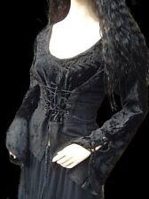 Gótico Medieval LARP Blusa Blusa corpiño Terciopelo Top Ribete Moona