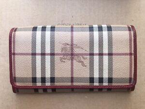 Authentic burberry nova check wallet