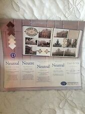 Creative Memories 1st Neutral Photo Mounting Paper Pack. 12 Sheets. Sealed!