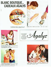 PUBLICITE ADVERTISING 036  1965  Agalys  boutique cadeaux  nappes serviette bain