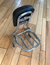 HARLEY SPORTSTER QUICK RELEASE BACK REST BACKREST SISSY & LUGGAGE RACK & DOCK