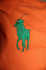 Polo Ralph Lauren Big Pony 3 Youth Orange Polo Shirt Size Large 14-16