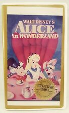 Rare VHS Alice In Wonderland Collectors Series Original Studio Black Diamond