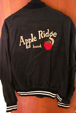 APPLE RIDGE BAND nylon jacket 1970s country McComb OHIO lrg coat vtg embroidery