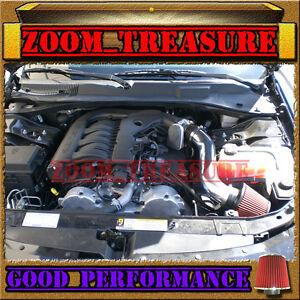 BLACK RED 2005-2010 DODGE MAGNUM/CHARGER/CHALLENGER/CHRYSLER 300 V6 AIR INTAKE